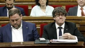 Junqueras y Puigdemont, en el Parlament