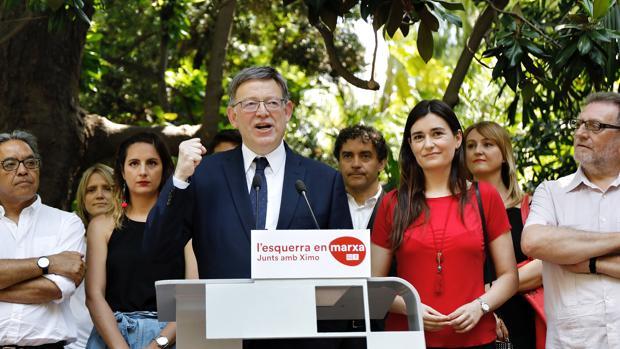 Ximo Puig, durante la presentación de su candidatura