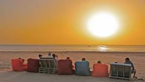 Puesta de sol el pasado mes de septiembre lo que hoy Marruecos llama Dakhla y antes era Villa Cisneros