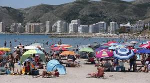 Imagen de la playa de Cullera tomada el pasado fin de semana
