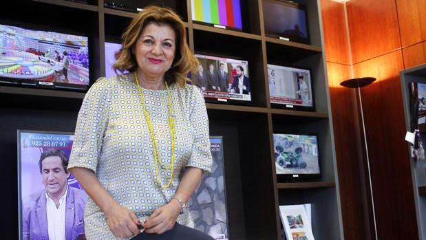 Carmen Amores en su despacho deCMMedia