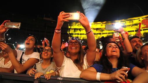 Imagen del concierto de este sábado de David Bisbal en Alicante