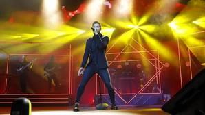 Imagen de David Bisbal en el concierto de este sábado en Alicante