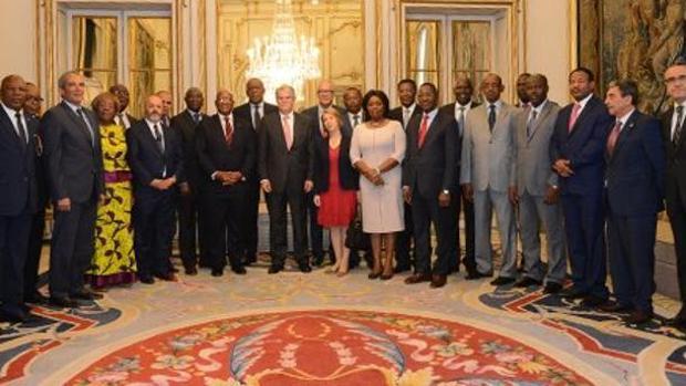 El ministro de Exteriores con embajadores de Grupo África el pasado mes de mayo