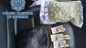 Alijo de drogas incautado por la Policía Nacional en la operación