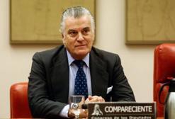 Luis Bárcenas durante su comparecencia en la Comisión que investiga la financiación del PP