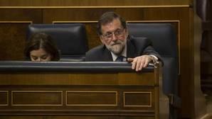 Mariano Rajoy durante las votaciones de los Presupuestos Generales del Estado