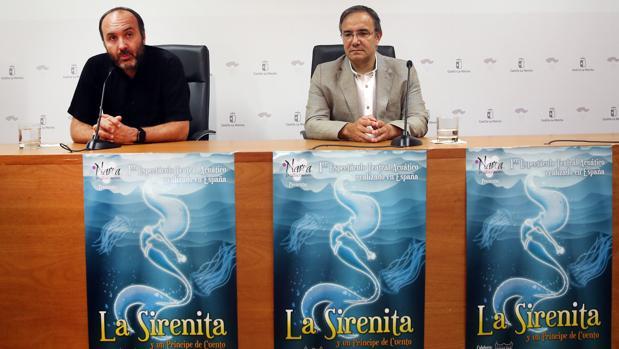 Javier Moncada y Jesús Carrascosa, durante la rueda de prensa