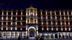 Así sería la plaza de Zocodover tras la remodelación que incluye la iluminación de la fachada principal.