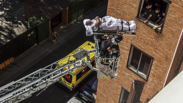 La compleja operación de los Bomberos del Ayuntamiento