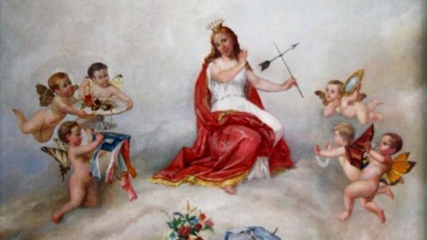 Imagen de una de las pinturas falsificadas
