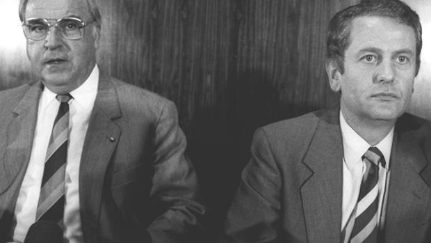 Helmut Khol y Uwe Barschel