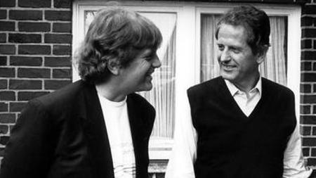 Justus Frantz y Barschel tras salir vivo de un accidente aéreo en ese mismo 1987
