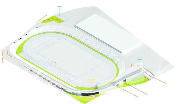Esquema del futuro estadio de Vallehermoso