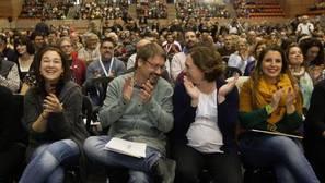 Domènech y Colau, durante el acto fundacional de Catalunya en Comú