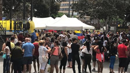 Cola para votar en el Parque San Telmo, en Las Palmas capital