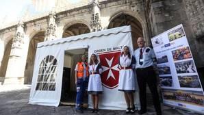 Puesto de socorro de la Orden de Malta en la Catedral de Santiago