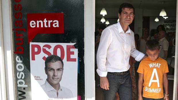 Rafa García, después de votar en Burjassot este domingo