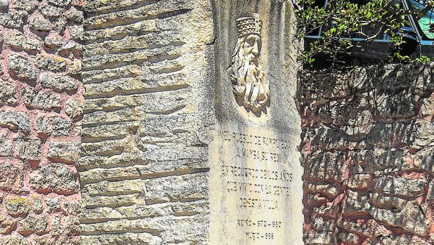 Monumento al rey Wamba en la localidad de Pampliega