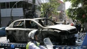 Imágenes del vehículo utilizado para atentar en el barrio madrileño de San Blas en 2005