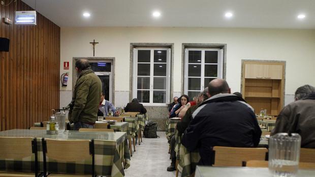 Comedor de la Cocina Económica, en Santiago