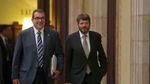 El exconseller Jordi Jané, acompañado de Albert Batlle en una imagen de 2015