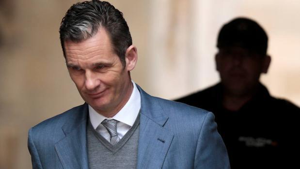 Iñaki Urdangarín a la salida de una audiencia en Mallorca