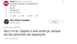 Uno de los polémicos tuits del nuevo jefe de los Mossos