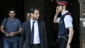 El fiscal José Grinda, a su salida este jueves del Palau de la Generalitat