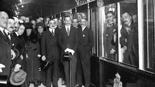 Alfonso XIII en la inauguración del Metro, en octubre de 1919