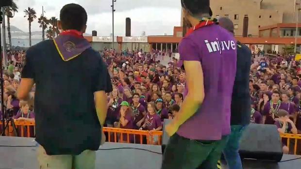 Acto de scouts en la Plaza de la Música de la capital grancanaria este domingo