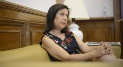 Margarita Robles en el transcurso de la entrevista