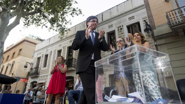 El presidente de la Generalitat, en un acto a favor del referéndum
