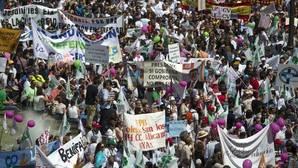 Imagen de archivo de una manifestación en defensa de la educación concertada en Valencia