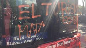 Bus turístico atacado esta semana en Barcelona