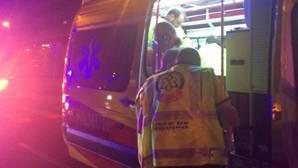Servicios de emergencias en el lugar del atropello