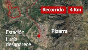 Este fue el recorrido de la pequeña Lucía tras desaparecer en Pizarra