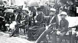 Imágenes de la Familia Real en la inauguración del monumento