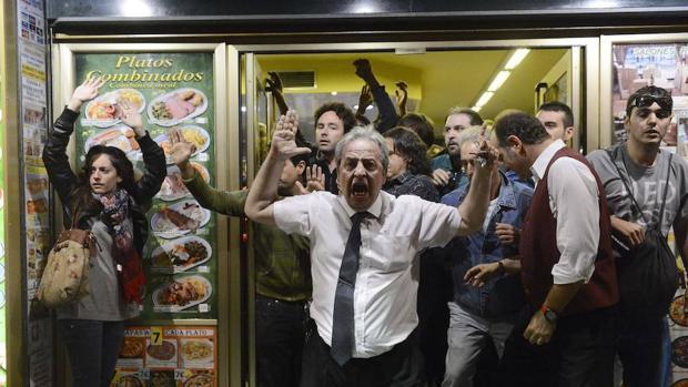 Alberto Casillas durante las protestas de «Rodea el Congreso»