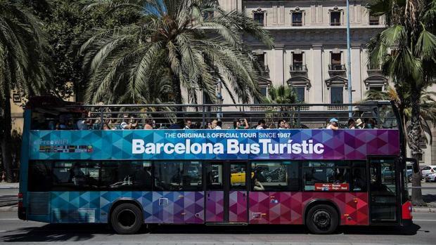 Un autobús turístico en Barcelona