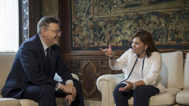 Imagen de la reunión este viernes de Ximo Puig e Isabel Bonig