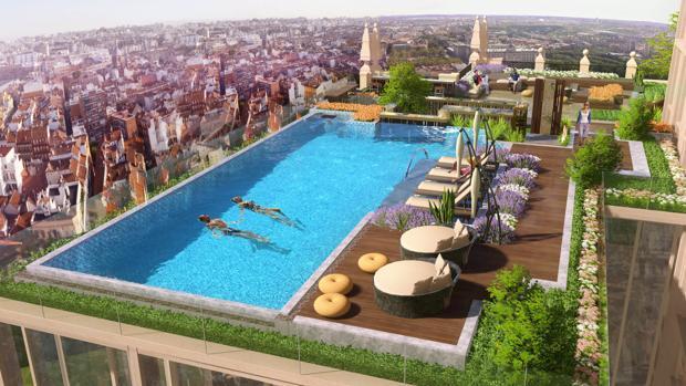 Las Joyas De Altura Del Futuro Hotel Del Edificio Espa A