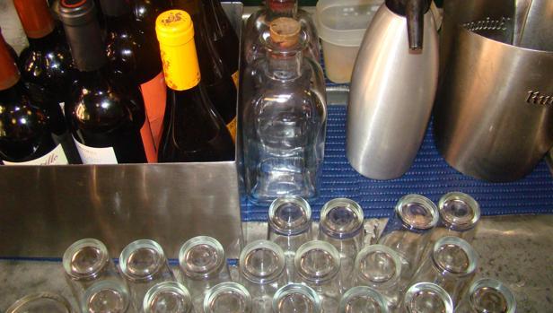 Los tradicionales vasos para los chatos