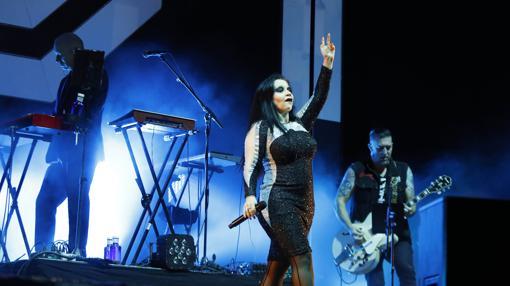 Imagen del concierto de Fangoria, este sábado en Mutxamel