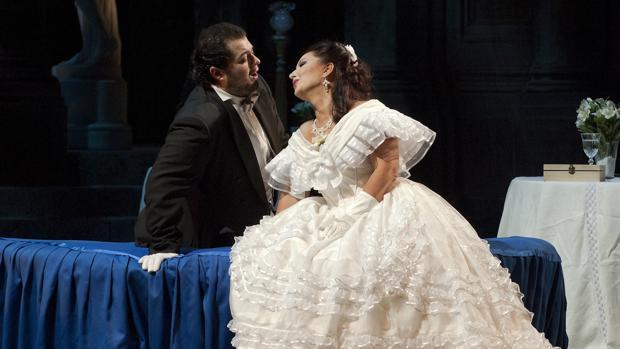 Instante de «La Traviata», ópera representada en el festival de ópera del año 2014