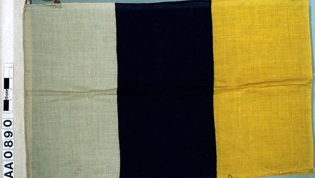 Bandera de Canarias en la colección Cook