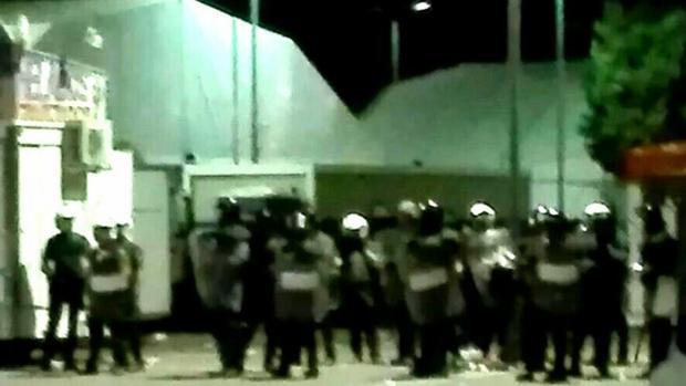 Agentes de la Guardia Civil en los disturbios de las fiestas de Pinto