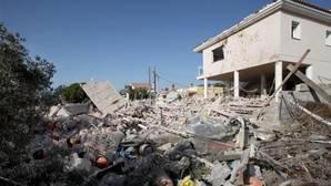 Estado en el que quedó una casa de Alcanar (Tarragona) tras una explosión ocurrida anoche