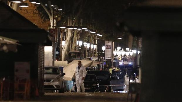 Imagen del dispositovo desplegado en Barcelona tras el atentado