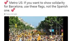 La ANC pide no usar la bandera de España para solidarizarse con los atentados